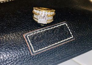 Gold Plated Sterling Silver • Absolute •Anniversary Ring• Size 6.5 for Sale in Anaheim, CA