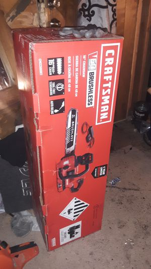 Craftsman 60 volt 16 in cordless chainsaw brand new in the box comes with 60 volt battery and charger for Sale in Tulalip, WA