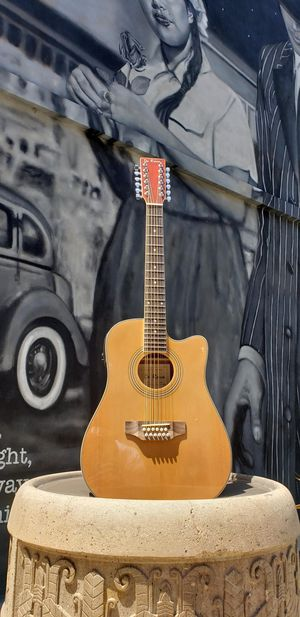 New 12 String Requinto Cutaway Acoustic-Electric Thin Body Guitar Natural for Sale in South Gate, CA