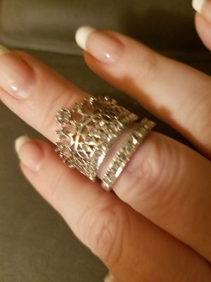 Sterling Silver Plated Crown Ring Set for Sale in Knoxville, TN