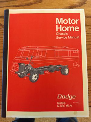 Dodge motorhome chassis service manual for Sale in Waterbury, CT