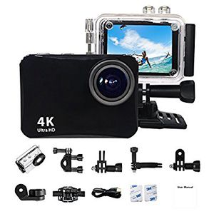 """Action Camera 4K Ultra HD 60 Meters Waterproof Camera 16MP 2.0"""" LCD WiFi Sports Camera Mounting Accessorie for Sale in US"""