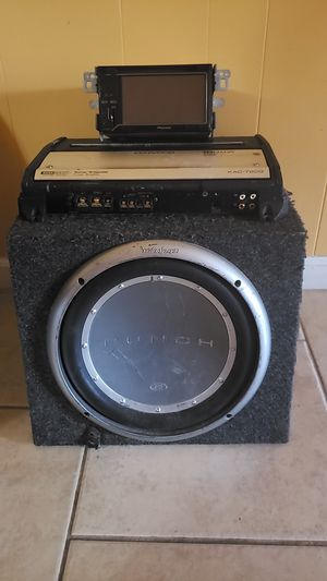 Car Subwoofer amplifier Kenwood 1000wts plus pioneer double Din DVD Receiver for Sale in Germantown, MD