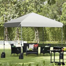 51 - 8'x8' Outdoor Pop up Canopy Tent w/Roller Bag-White for Sale in Baldwin Park,  CA