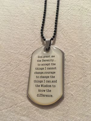 Serenity Prayer Necklace for Sale in Lester, WV