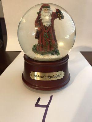 "Pipka ""Where's Rudolph"" Musical Snow Globe. #11664 for Sale in Victoria, VA"
