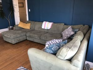 Green grey sectional couch for Sale in San Francisco, CA