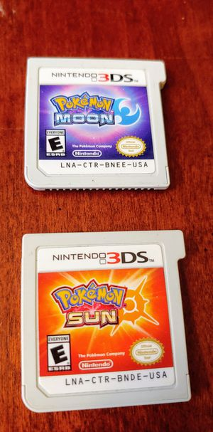 NINTENDO 3DS POKEMON SUN & POKEMON MOON FOR ONLY 15$$!! EACH 100%💥💥 for Sale in Escondido, CA