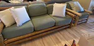 Vintage Log Couch and Chair Set for Sale in Westminster, CO