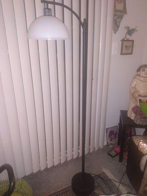 Metal floor lamp plastic shade for Sale in Alexandria, VA