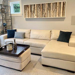 The Sofa Company Custom Leather Sleeper Sofa for Sale in Kirkland, WA