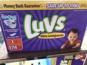 Luvs size 1 diapers 174 count $15 Firm sealed box brand new for Sale in Phoenix, AZ