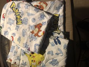 3 twin sized Pokémon bed sheets for Sale in New Lenox, IL