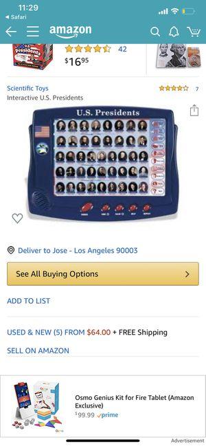 Scientific Toys Interactive U.S. Presidents for Sale in Los Angeles, CA