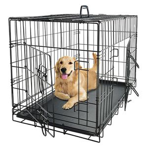 New in box 48x30x32 inches tall large 2 doors foldable dog cage crate kennel for pet up to 100 lbs for Sale in South El Monte, CA