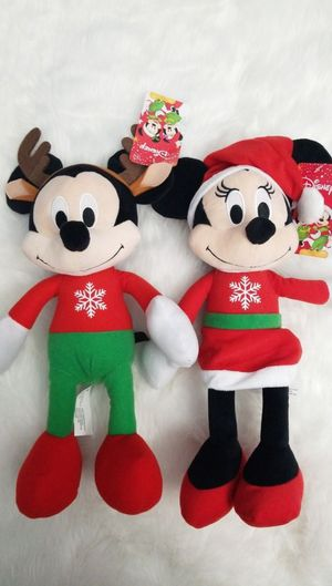 Mickey and minnie mouse plushies for Sale in Ontario, CA