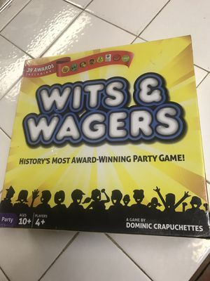 New In Plastic Wits & Waggers Game $15 Firm for Sale in San Antonio, TX