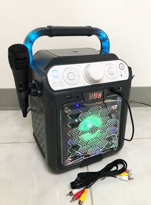Brand new $35 Portable Karaoke Bluetooth Speaker System Microphone Flashing LED Lights for Sale in Montebello, CA