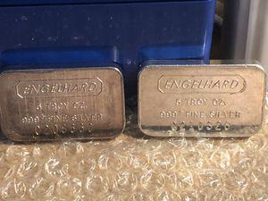 2x 5oz Engelhard Silver Bars for Sale in Cupertino, CA
