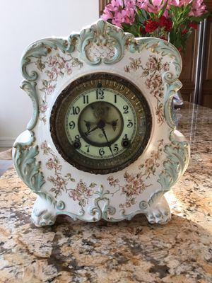 Antique porcelain dresser clock for Sale in Fort Lauderdale, FL