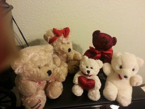 Stuffed Teddy Bears (5) $10/all for Sale in Valrico, FL
