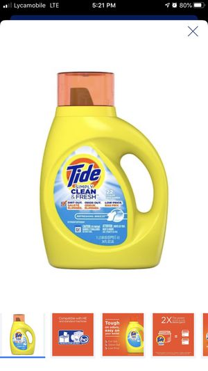 Tide 34 OZ Laundry Detergent for Sale in Alexandria, VA