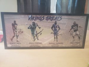 Vikings Greats autographed picture for Sale in Rogers, MN
