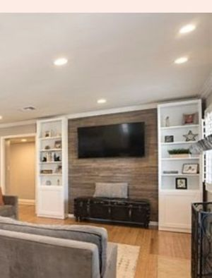 Custom Built Bookshelves /entertainment storage for Sale in Brea, CA