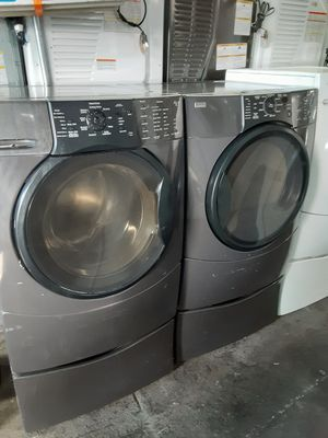 $599 Kenmore washer dryer set with storage pedestals includes delivery in the San Fernando Valley a warranty and installation for Sale in Los Angeles, CA