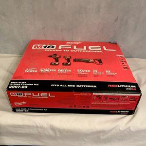 NIB Milwaukee M18 FUEL™ 3 Tool Combo Kit. Mod Number 2997-23 for Sale in Davie, FL