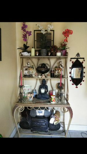 Moving Sale$ $100 or best offer! Beautiful Wrought Iron Bar Rack! Must go! Best offer! for Sale in Doral, FL