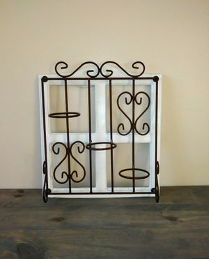 Wall hanging plant holder iron and wood for Sale in American Fork, UT