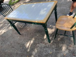 Picnic kitchen domino table etc! Delivery included 2 chairs! 60$ for Sale in Miami, FL