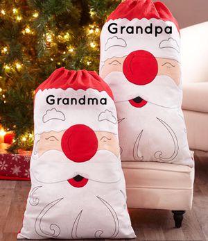 Personalized Huge Santa, Elf, Snowman Gift Bags for Sale in Grand Prairie, TX