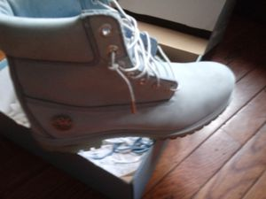 Powder blue Timberlands fresh size 11 for Sale in Pittsburgh, PA