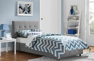 New Grey Twin Platform Bed NO MATTRESS $125 for Sale in Dallas, TX