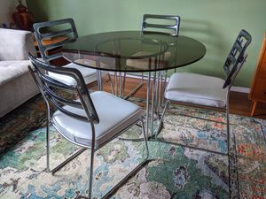 1960s Danish MCM Dining Table And Chairs for Sale in Portland, OR