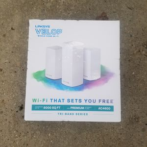 Linksys velop whole home WiFi AC4600 for Sale in Crosby, TX