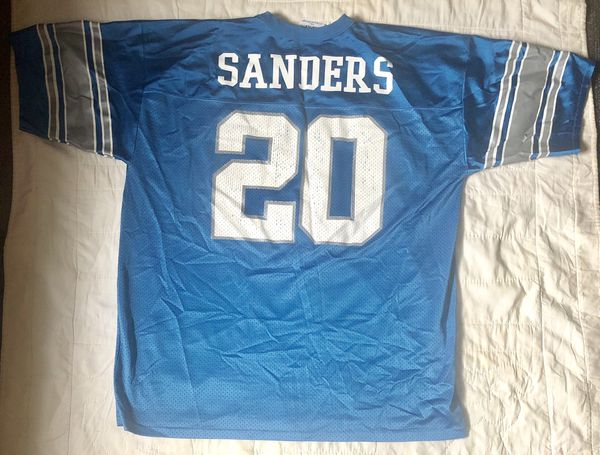 size 40 b6451 21b22 Vintage logo athletic Detroit lions barry sanders jersey size XL for Sale  in Greenwood, IN - OfferUp