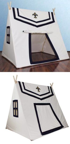 New in box Dexton Toadi Fort 54L x 48W x 60H inches Indoor Outdoor Pitch Pretend Play Tent Wooden Poles Fire Resistant Cotton MSRP $142 for Sale in Los Angeles, CA