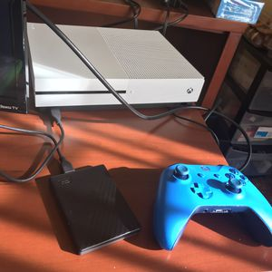 xbox one s with 2 tb external hard drive and a lot of games for Sale in Annapolis, MD