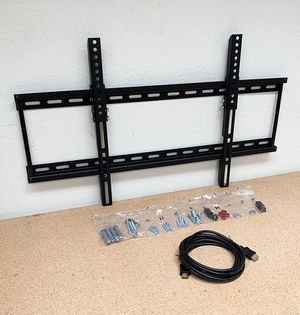 "New in box $18 Tilt 32""-65"" TV Wall Mount Bracket and 10ft HDMI Cable Combo Set for Sale in Downey, CA"