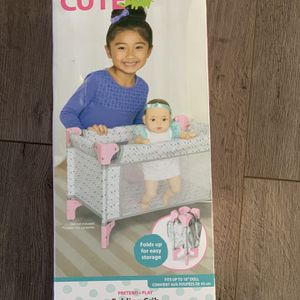 New perfectly cute Baby Doll Folding Crib & Playpen for Sale in Cleveland, OH