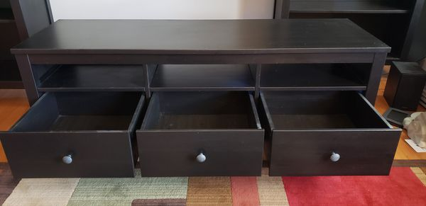 Hemnes Ikea Furniture Set (includes 2 bookcases and TV unit)