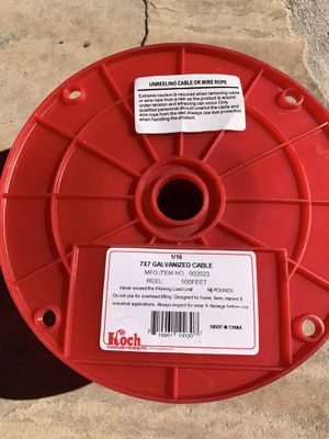 7x7 galvanized cable 500 feet for Sale in Phoenix, AZ