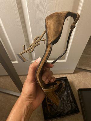 Saint Laurent Opyum Suede YSL Logo- Heel Sandals for Sale in Cherry Hill, NJ