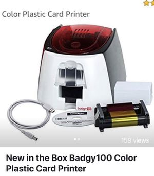 New in the Box Badgy100 Color Plastic Card Printer for Sale in Brooklyn, NY