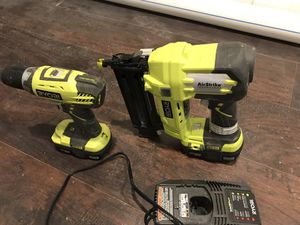 Finish nails gun and drill with batteries for Sale in Catonsville, MD