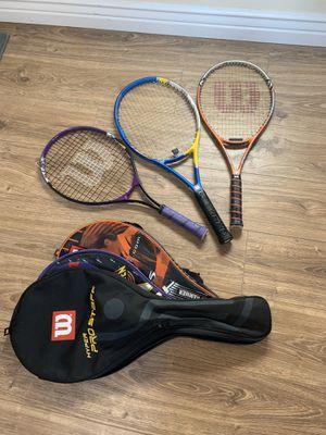 Tennis rackets, great shape, family pack for Sale in Phoenix, AZ