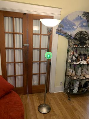 Stainless steel adjustable Torchiere 2 light pole lamp for Sale in Los Angeles, CA